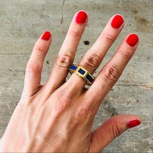 ♥️ Tory Burch ♥️ Gold Rylan Geometric Enamel Ring